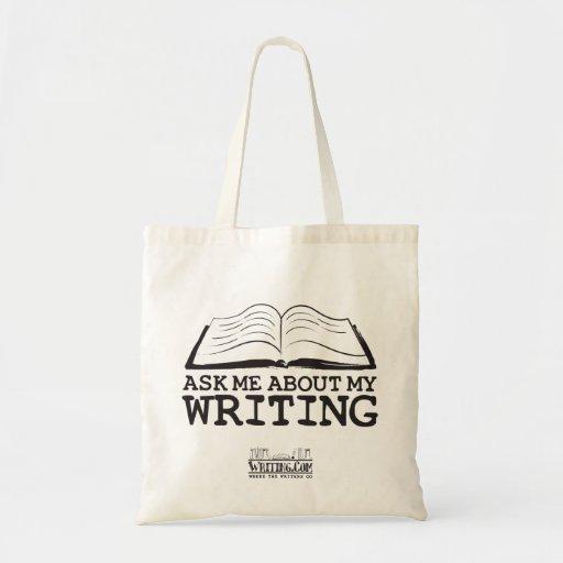 Pregúnteme acerca de mi escritura (el bolso) bolsa tela barata
