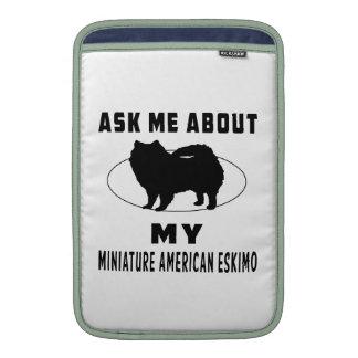 Pregúnteme acerca de mi esquimal americano miniatu funda  MacBook