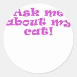 Pregúnteme acerca de mi gato etiquetas redondas