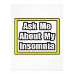 Pregúnteme acerca de mi insomnio plantillas de membrete