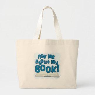 ¡Pregúnteme acerca de mi libro! Estilo de la diver Bolsa De Tela Grande
