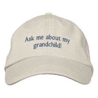 ¡Pregúnteme acerca de mi nieto! Gorra Gorra De Béisbol