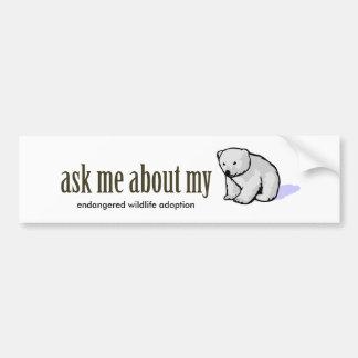 Pregúnteme acerca de mi OSO POLAR Etiqueta De Parachoque