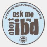 Pregúnteme acerca de mi pegatina de IBD - azul