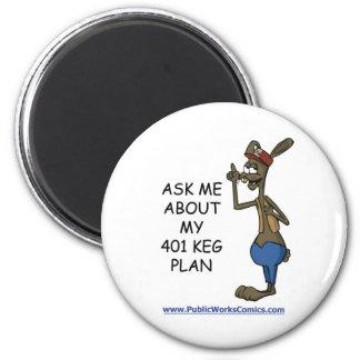 Pregúnteme acerca de mi plan de 401 barriletes imán redondo 5 cm