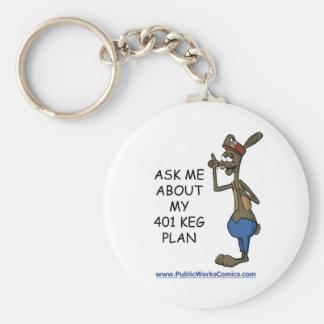 Pregúnteme acerca de mi plan de 401 barriletes llavero redondo tipo pin