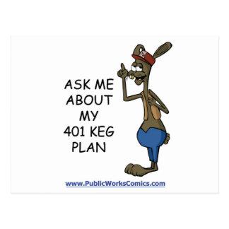 Pregúnteme acerca de mi plan de 401 barriletes tarjetas postales