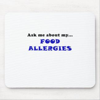 Pregúnteme acerca de mis alergias alimentarias tapete de ratones