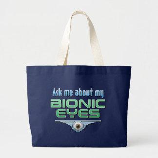 Pregúnteme acerca de mis ojos Bionic Bolsa De Mano