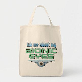 Pregúnteme acerca de mis ojos Bionic Bolsas De Mano