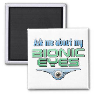 Pregúnteme acerca de mis ojos Bionic Imán Cuadrado