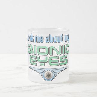 Pregúnteme acerca de mis ojos Bionic Taza Cristal Mate