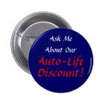 Pregúnteme acerca de nuestro descuento de la Auto- Pins