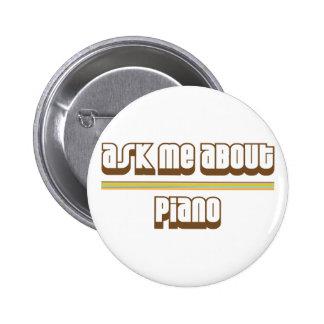 Pregúnteme acerca de piano pin redondo 5 cm