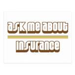 Pregúnteme acerca de seguro tarjeta postal