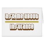 Pregúnteme acerca de seguro tarjeton