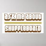 Pregúnteme acerca de Shuffleboard Posters