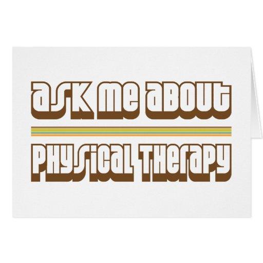 Pregúnteme acerca de terapia física felicitacion
