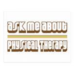Pregúnteme acerca de terapia física tarjeta postal