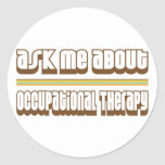Pregúnteme acerca de terapia profesional etiqueta redonda
