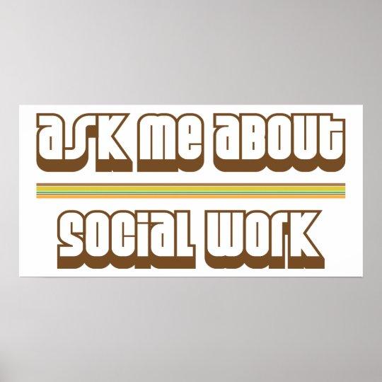 Pregúnteme acerca de trabajo social póster