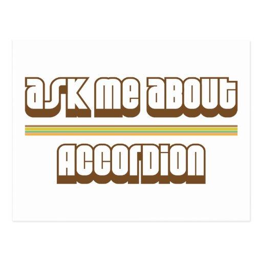 Pregúnteme acerca del acordeón tarjetas postales