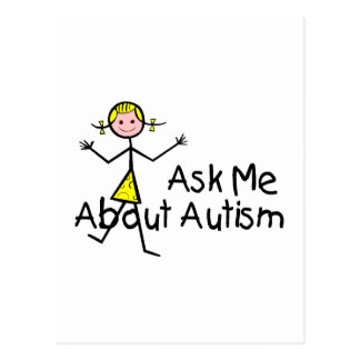 Pregúnteme acerca del autismo (chica 2) tarjeta postal