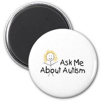 Pregúnteme acerca del autismo (el chica) iman de frigorífico