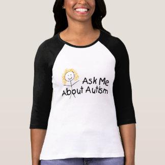 Pregúnteme acerca del autismo (el chica) camisetas