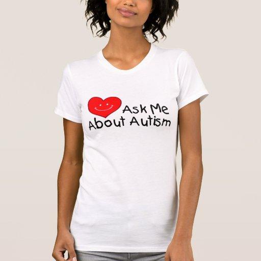 Pregúnteme acerca del autismo (el corazón) poleras