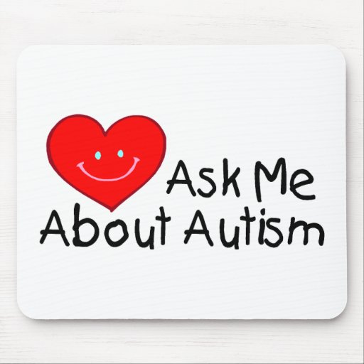 Pregúnteme acerca del autismo (el corazón) alfombrillas de ratón