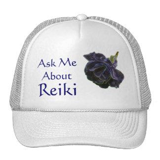 Pregúnteme acerca del gorra color de rosa púrpura
