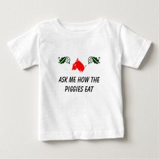 Pregúnteme cómo los piggies comen la camisa