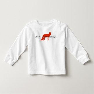 Pregúnteme lo que dice el zorro tshirt