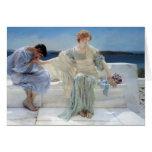 Pregúnteme no más por Alma Tadema, romanticismo Tarjeta De Felicitación