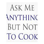 Pregúnteme todo menos no cocinar flyer a todo color