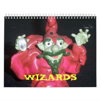 Pregúntese a los magos, añada una cierta magia a s calendario de pared