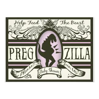 Pregzilla Baby Shower Custom Invites