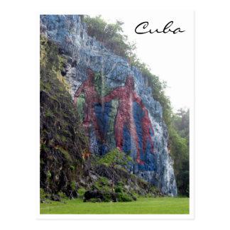 prehistoria men mural postcard
