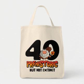 Prehistoric 40th Birthday Tote Bags