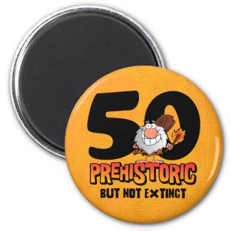 Prehistoric 50th Birthday 2 Inch Round Magnet