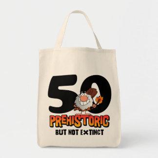 Prehistoric 50th Birthday Tote Bag