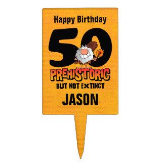 Prehistoric 50th Birthday Cake Picks