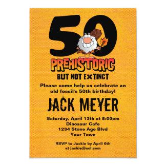 Prehistoric 50th Birthday Card