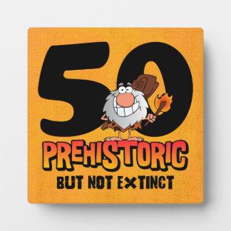 Prehistoric 50th Birthday Plaque