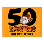 Prehistoric 50th Birthday Postcard Invitation