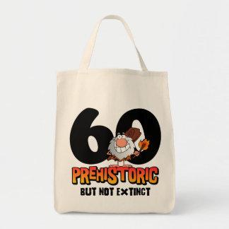 Prehistoric 60th Birthday Canvas Bags