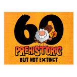 Prehistoric 60th Birthday Postcard Invitation