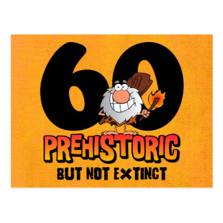Prehistoric 60th Birthday Postcard Invitation