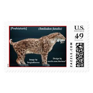 "[Prehistoric] ""A fatal feline - Smilodon fatalis"" Postage"